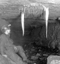 Junction of Hensler's Master Cave and Disappointment Pot, 1951