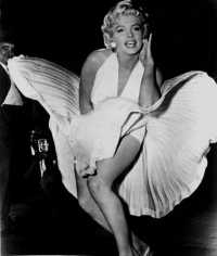 A picture of Marilyn Monroe in the film - The Seven Year Itch